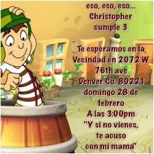 Invitacion El Chavo Del Ocho Fiesta De Cumpleanos Infantil