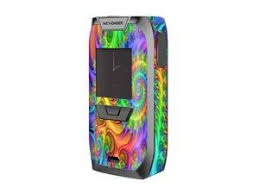 Skin Decal Vinyl Wrap For Smok Alien 220w Tc Vape Mod Stickers Skins Cover Neon Color Swirl Glass Newegg Com