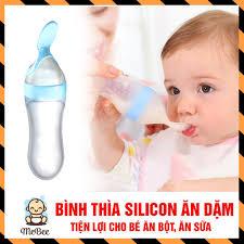 Bình thìa silicon ăn dặm, uống sữa an toàn cho bé yêu SHOPMEBEE ...