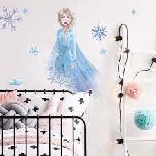 Frozen 2 Ii Elsa Olaf Peel Stick Giant Wall Decals Girls Room Decor Stickers Wall Decals Stickers Home Garden