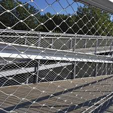 China Hand Woven Knotted Stainless Steel Wire Rope Mesh For Fence China Safety Net Animal Enclosures