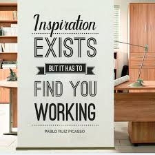 Inspiration Exists Office Wall Sticker Wall Decalque Removable Vinyl Wall Sticker Quote Picasso Decoration Inspiration H369 Wall Stickers Aliexpress