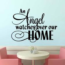 Hot An Angel Watches Over Our Home Vinyl Wall Art Quote Stickers Religious Decals Home Decor Diy Wall Decals For Bedroom Wall Decals For Bedrooms From Langru1002 8 55 Dhgate Com