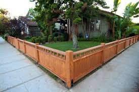 Short Wood Fence Backyard Fences Front Yard Fence Fence Design