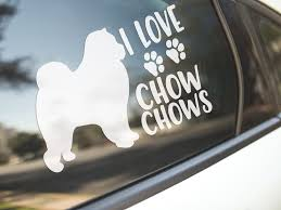 Car Sticker I Love Chow Chows Dog Bumper Decal Stickers Dogs Made In Australia Thenakedbike In 2020 Bumper Decals Dog Stickers Chow Chow Dogs