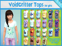 Voidcritter Tops For Girls Kids Room Stuff Needed The Sims 4 Catalog