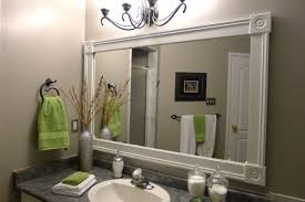 framed bathroom mirrors also decorative