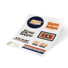 Sigma Kappa Stickers Decals Greek Clothing Greek Gear