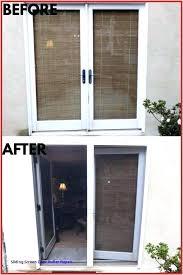 sliding glass patio doors screen door