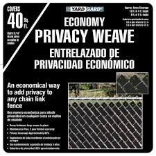 Yardgard 4 Ft H X 250 Ft W Black Economy Vinyl Fence Panel Weave 330250wbl The Home Depot Vinyl Fence Panels Vinyl Privacy Fence Fence Panels