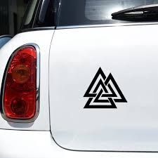 Valknut Vinyl Car Decal Pagan Odin Asatru Norse Viking Sticker Car Window Decor Laptop Decals For Apple Macbook Decoration Car Stickers Aliexpress