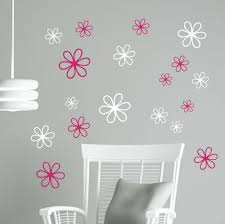 2 Color Daisy Floral Wall Decal Package 16pc