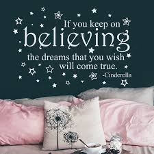 Cinderella Quote Wall Decal If You Keep On Believing Decal Etsy