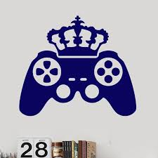 King Game Decal Video Game Controller Sticker Play Decal Gaming Posters Gamer Vinyl Decals Decor Mural Video Game Wall Sticker Wall Stickers Aliexpress