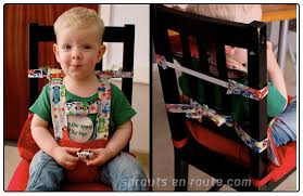 diy travel high chair for wiggly