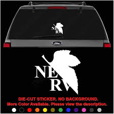 Amazon Com Nerv Neon Genesis Evangelion Anime Die Cut Vinyl Decal Sticker For Car Truck Motorcycle Vehicle Window Bumper Wall Decor Laptop Helmet Size 6 Inch 15 Cm Wide Color Gloss White