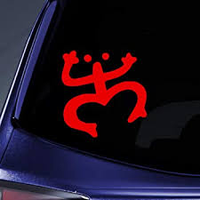 Amazon Com Bargain Max Decals Coqui Vinyl Decal Puerto Rico Frog Sticker Decal Notebook Car Laptop 4 Red Automotive