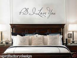 Ps I Love You Wall Art Decal Home Decor Famous Inspirational Q Word Factory Design