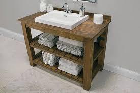 rustic custom vanity bathroom powder