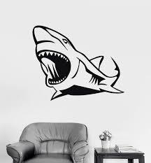 Wall Stickers Vinyl Decal Shark Jaws Predator Ocean Decor Murals Uniqu Wallstickers4you