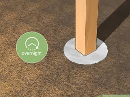 How To Cement A Post In The Ground 9 Steps With Pictures