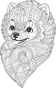 Pretty Henna Paisley Coloring Book Pommeranian Puppy Dog Vinyl Decal S Shinobi Stickers