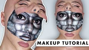 half machine half human sfx makeup