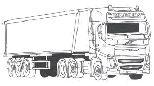 Kleurplaat Volvo En Iveco Vrachtwagen Wigchers Transport