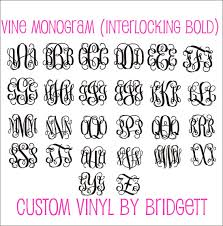 Pearl Monogram Decal Car Decal Car Decal For Women Preppy Pearl Personalized Decal Car Decal Southern