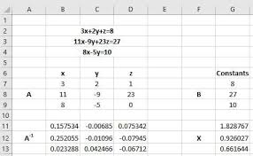 solving equations in excel polynomial