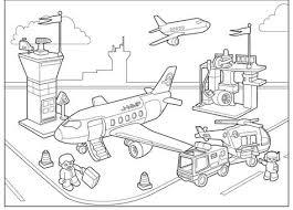 Vliegveld Kleurplaat Vervoer Thema Kleurplaten