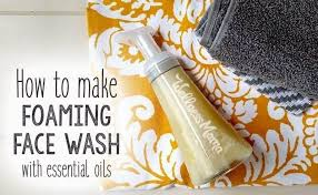 foaming face wash with essential oils