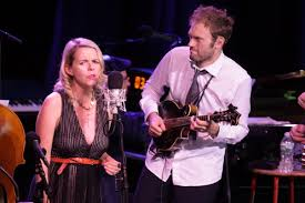 Aiofe O'Donavan and Chris Thile perform during Live From Here ...