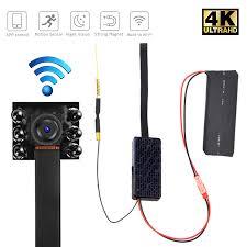 Camera giám sát giấu kín wifi V100 Plus 6 Led 4K Quay đêm 24H