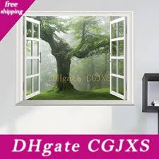 Wholesale Window View Decal Wall Sticker Buy Cheap In Bulk From China Suppliers With Coupon Dhgate Com