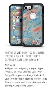 Coral Blues Decal Kit For Otterbox Defender Case For Apple Iphone 7 7 Plus Apple Iphone Otterbox Defender Coral Blue