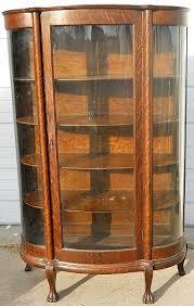 antique curio cabinets quarter sawn