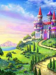 fairyland with the magic castle