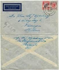ma singapore klm airmail env 1937