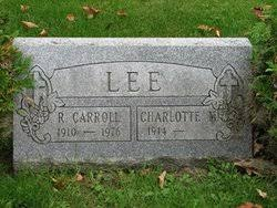 Charlotte Myra Ross Lee (1914-2000) - Find A Grave Memorial