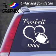 Football Mom Car Truck Window Decal Sticker Can Be Etsy
