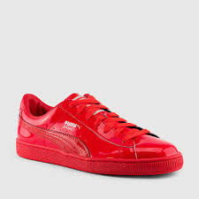 puma basket patent leather sneakers