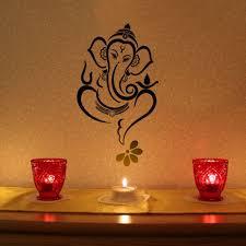 Floral Ganesha Vinyl Wall Sticker Lord Ganesha Paintings Ganesha Art Ganesha