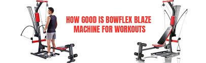 bowflex blaze home gym machine a