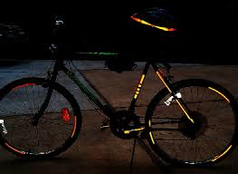 Streetglo Reflective Bicycle Helmet Decals And Reflective Bicycle Frame And Wheel Stickers Kits