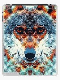 Wolf Colorful Animals Ipad Case Skin By Raquelcatalan Redbubble