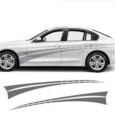 1pair 2pcs 2pcs Sports Side Car Stripes Decal Car Graphics Car Stickers For All Cars Racing Stripes Wish