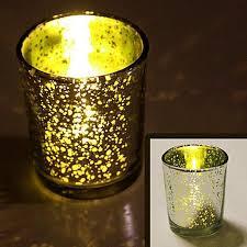 mercury glass tea light candle holders