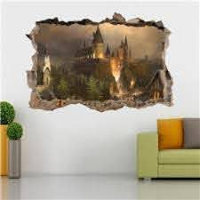 Hogwarts Harry Potter Smashed Wall Decal Removable Wall Sticker Art Mural H327 Ebay