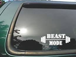 Amazon Com Beast Mode Weights Die Cut Vinyl Window Decal Sticker For Car Or Truck3 X8 Automotive